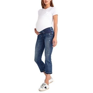 DL1961 | Distressed Maternity Crop Jeans